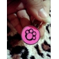 Dog Paw Style Dog Name Tag (Assorted Colors)