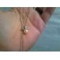 Feminino Colares com Pendentes Colar com Pérolas Pérola Liga Moda bijuterias Jóias Para Diário
