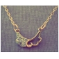 Angel Wings Pendants Fashion hollow diamond wings Korean short paragraph clavicle chain necklace new  N542Imitation Diamond Birthstone