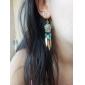 드랍 귀걸이 펄 레진 에나멜 합금 블랙 베이지 블루 보석류 용 결혼식 파티 일상 캐쥬얼