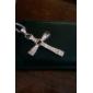 Homens Colares com Pendentes Formato de Cruz Liga Jóias filme bijuterias Jóias Para Diário Casual Presentes de Natal