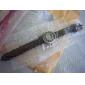 reloj de las mujeres de cuero de banda de línea de punto hueco bohemio