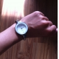 Damen Modeuhr / Armbanduhr Quartz Imitation Diamant Legierung Band Armreif Silber Marke