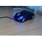 미니 USB 차 스타일 광학 유선 마우스 (블랙)