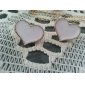 Sweety Alloy Acrylic Heart Pattern Earrings (Assorted Colors)
