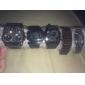 SKMEI Мужской Карманные часы LED Календарь Защита от влаги Цифровой сплав Группа Люкс Черный Серебристый металл