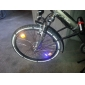 Changing Colors Gas Nozzle Wheel Safety Lights for Bicycle/Motor/Car (2 pcs, 3xAG10)