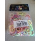 baoguang®300pcs cor do arco-íris tear nova dupla tear cor da moda elástico (12pcs gancho)