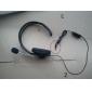 Ensidig øretelefoner Headset Volumkontroll / mikrofon for Xbox 360 - Sort (120cm-Cable)