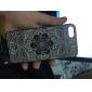Grande teste padrão cinzento Flower Hard Case para iPhone 5/5S PC