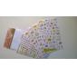 αυτοκόλλητα όμορφη μοτίβο κινουμένων σχεδίων γάτα (τυχαία το χρώμα, 6 τεμ)