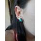 Femme Boucles d'oreille goujon Sculpté Style Folk Vintage Gemme Alliage Forme de Fleur Forme de Croix Goutte Bijoux Pour Soirée Quotidien
