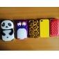Panda Projeto Silica Gel Soft Case 3D para iPhone 4/4S