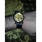 Мужской Часы со скелетом Механические часы С гравировкой Имитация Алмазный С автоподзаводом PU Группа Люкс Черный