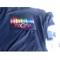 Lyd og musik aktiveres spektrum VU Meter EL Visualizer LED T-shirt (4 * AAA)