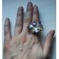꽃 모양 컬러 유약 조절 합금 링