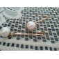 Women's OL temperament Korean version pearl earring E442