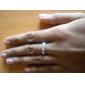 Z&X® (2 개) 패션 남여 투명 모조 다이아몬드 커플 반지