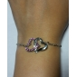 z&x® coeur - en forme de bracelet de diamants