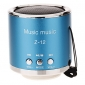 Z-12 Rounded Mini Speaker Support TF/SD/USB/FM Radio(Blue)
