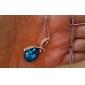 Femme Pendentif de collier Cristal Goutte Cristal Strass Platiné Alliage Mode Elegant bijoux de fantaisie Bijoux Pour Mariage Soirée