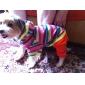 Красочные куртки Полосатый & Брюки Комбинезон для собак Домашние животные