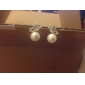 Stud Earrings Pearl Alloy Fashion White/Sliver Jewelry Daily