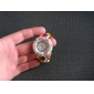 Women's Wood Analog Quartz Bracelet Watch (Multi-Colored)