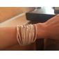 Femme Bracelets Original Mode bijoux de fantaisie Multicouches Cuir Alliage Bijoux Bijoux Pour Mariage Soirée Quotidien Regalos de Navidad