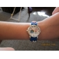 barnas fotball stil silikon ledet analog kvarts armbåndsur (blå)