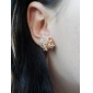 Femme Boucles d'oreille goujon Amour Bijoux de Luxe Le style mignon Strass Alliage Forme de Noeud Bijoux Pour Soirée Quotidien Décontracté