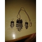 Bijoux Colliers décoratifs Boucles d'oreille Anniversaire Fiançailles Soirée Quotidien Perle Cristal Alliage Femme Doré Cadeaux de mariage