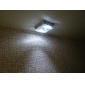 8-LED 2-modo de luz branca sensor de movimento infravermelho ativado lâmpada LED (2xAA)