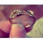 Anéis Grossos Liga Formato de Folha Coração Moda Dourado Prata Jóias Festa Diário Casual