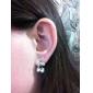 Stud Earrings Pearl Alloy Jewelry Daily
