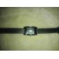 Simple Tous assortie de cadran de place de bande de silicone de quartz analogique montre-bracelet des femmes