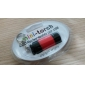 USB-drevet oppladbar mini LED-lommelykt (assorterte farger)