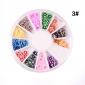 Verschillend gevormde 3D nagelkunst-decoraties (12x)