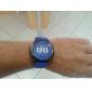 Hommes silicone style décontracté analogique montre-bracelet à quartz (couleurs assorties)