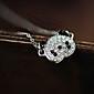 Japão e Coreia do Sul Edição de moda panda encantador cheio cadeia colar de diamantes clavícula N574