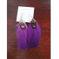 Lureme®Silver Plated Feather Alloy Earrings