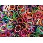 BaoGuang®600PCS Rainbow Color Loom Fashion Loom Rubber Band(1Package S Clip)