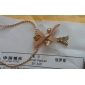 Women's Pendant Necklaces Bowknot Tower Imitation Diamond Alloy Fashion Luxury Personalized Jewelry For Party Daily