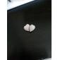 Brincos Curtos Coração Liga Formato de Coração Branco Preto Vermelho Azul Jóias Para Diário