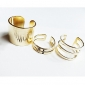 Miss ROSE®European Style Golden Plated Ring(3PCS)