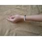9 Fully-jewelled Metal Ball Black Diamonds Hand-knitted Bracelet
