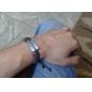 Мода 24см Мужская Браун Кожаный браслет () (1 шт)