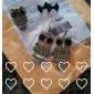 Brincos Curtos Sexy Estilo bonito Personalizado imitação de diamante Liga Formato de Laço Preto Jóias Para Festa Diário