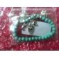 Lureme®Vintage Bohemian Style Turquoise Owl Elephant Bracelet