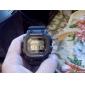 Multi-Function LCD Grande Place Dial Rubber Band montre bracelet à quartz pour hommes (couleurs assorties)